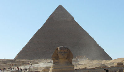 Sphinx and Pyramid of Chefron
