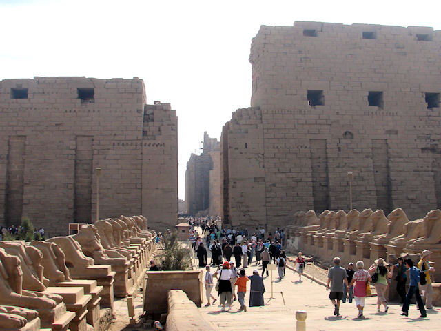 First Pylons entering the Precinct of Amun at Karnak