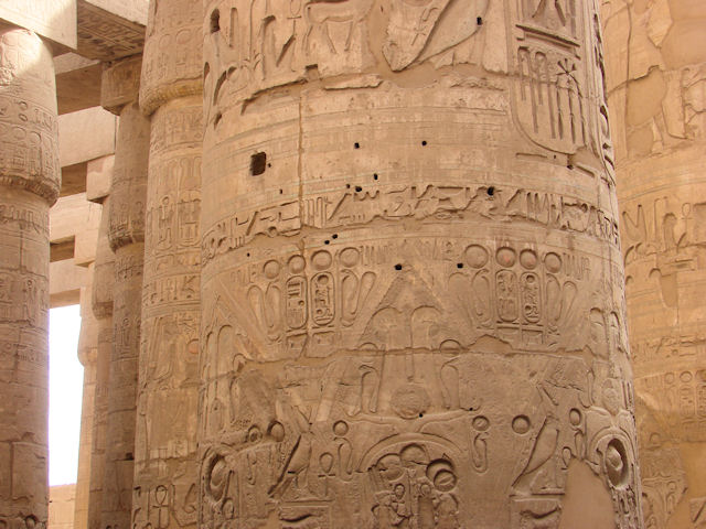 Hypostyle hall in Karnak Temple