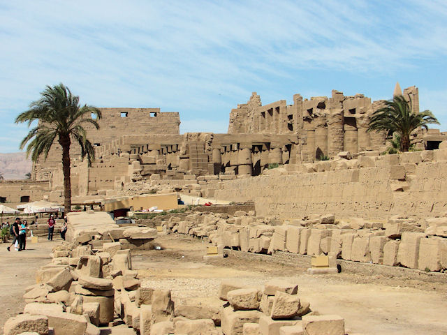 The central halls of the Precinct of Amun Re