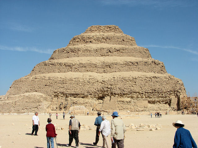 Step pyramid built for Zoser