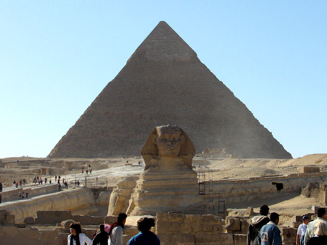 Khafre's pyramid and sphinx